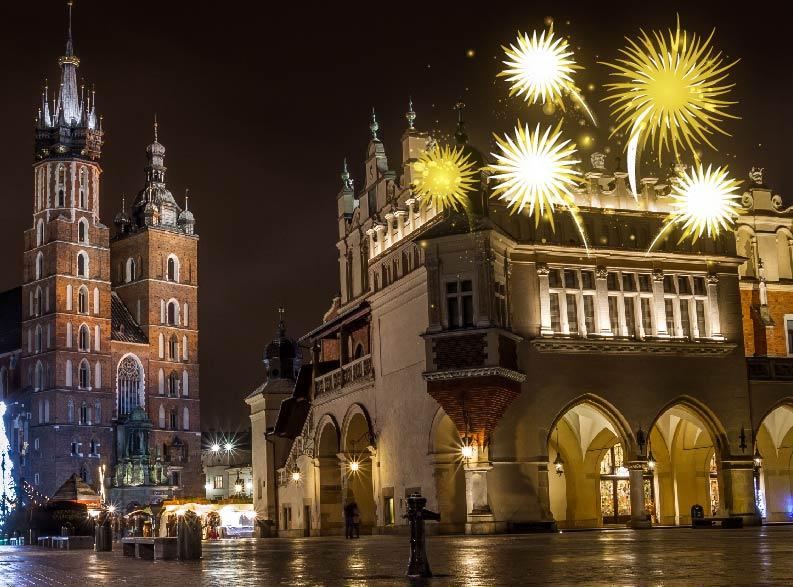 capodanno a Cracovia piazza del mercato