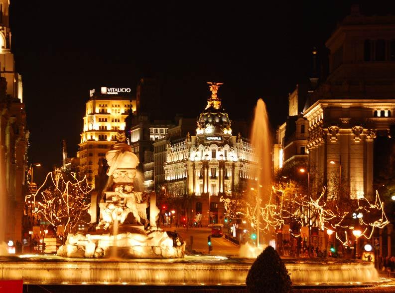 anteprima offerta natale a madrid plaza de cibeles